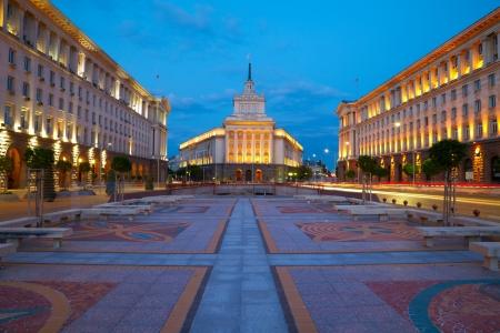 ブルガリアの首都ソフィアの市内中心部