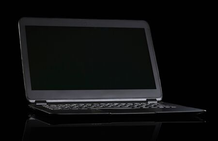 ultrabook: Laptop ultrabook  on black background