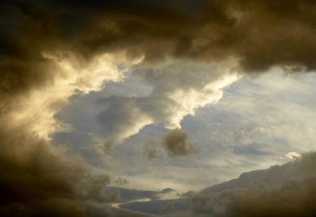 weather  thunder: Dark storm clouds background Stock Photo