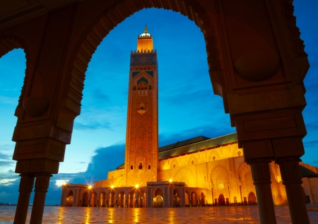 Hassan II Mosque in Casablanca, Morocco Africa photo