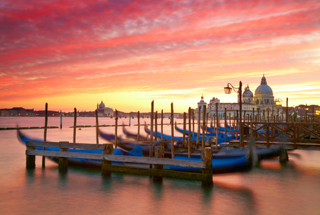 Sunset over the Grand Canal  Venice, Italy