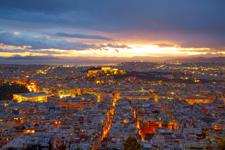 Athens, Greece  After sunset  photo