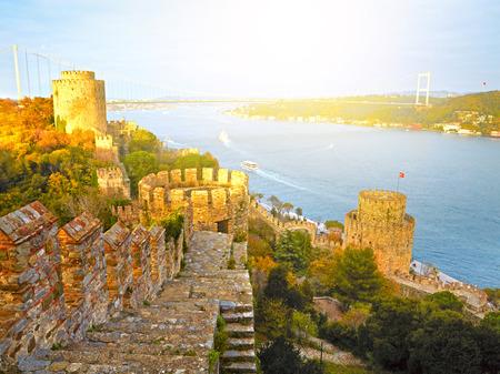 hisari: Fortress Rumelihisar. Istanbul, Turkey. HDR Stock Photo