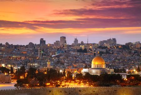 エルサレム旧市街の眺め。イスラエル