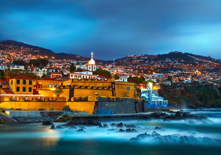 portugal: View of old castle Fortaleza de Sao Tiago. Funchal, Madeira, Portugal