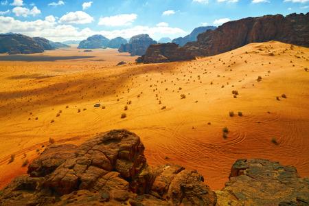 Deserto di Wadi Rum, Giordania Archivio Fotografico - 35962634