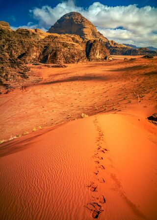 holiday movies: Wadi Rum desert, Jordan Stock Photo