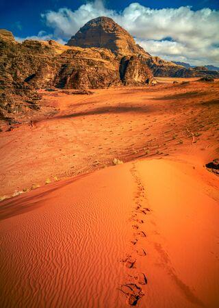 lawrence: Wadi Rum desert, Jordan Stock Photo