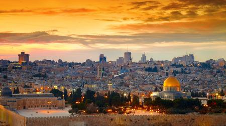 Panorama of Jerusalem old city. Israel Standard-Bild