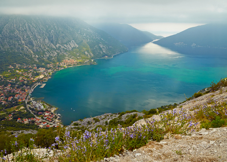 montenegro: The Kotor bay, Montenegro Stock Photo