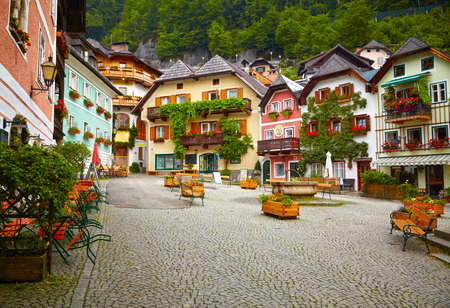 Town square in Hallstatt