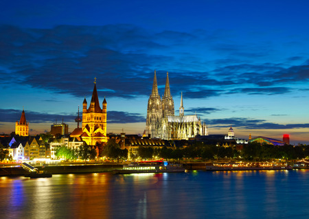 Cologne center in the evening, Germany