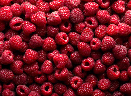 background texture: Raspberry fruit background Stock Photo