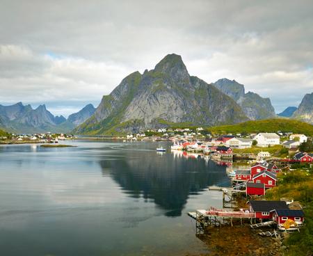 fishing cabin: Reine fishing village.  Lofoten Islands, Norway