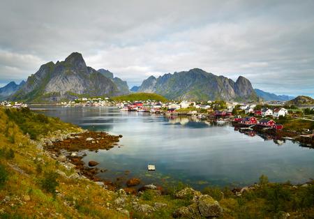 fishing huts: Reine fishing village.  Lofoten Islands, Norway