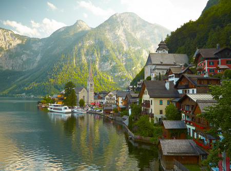 Hallstatt mountain village Stock Photo