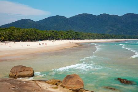 turqoise: Lopes Mendes. Beautiful beach of the Ilha Grande island, Rio do Janeiro, Brazil.