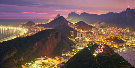 rio de janeiro: Night view of Rio de Janeiro, Brazil