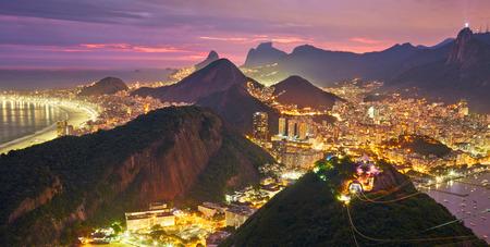 rio: Night view of Rio de Janeiro, Brazil