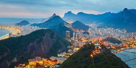 rio: Night panorama of Rio de Janeiro, Brazil
