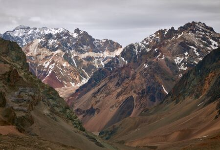 aconcagua: Mountains in Aconcagua national park. Andes, Argentina