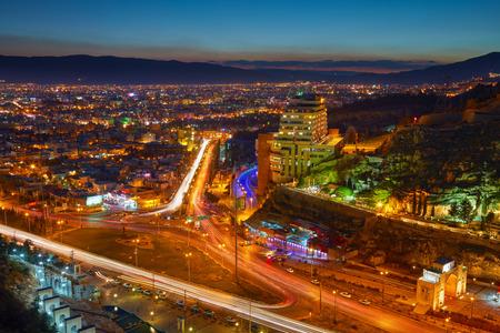 iran: Night view of Shiraz, Iran