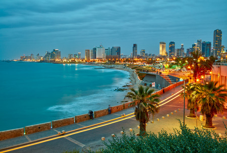 Tel Aviv, Israel. After sunset view from Jaffa 版權商用圖片