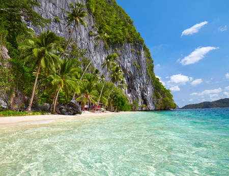 nido: Beautiful island with blue bay. El Nido,  Palawan, Philippines