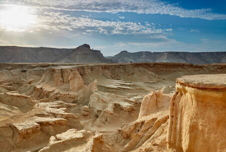 karst: Stars Valley. Mountain range at Qeshm Island, Iran Stock Photo