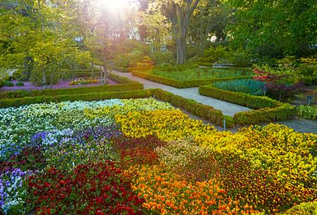 Madrid Botanic Garden - Real Jardin Botanico. Spring time Stock Photo