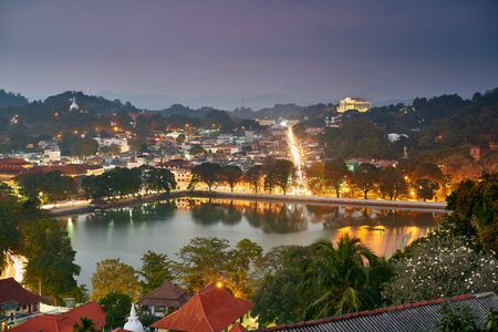 Night view of Kandy, Sri Lanka
