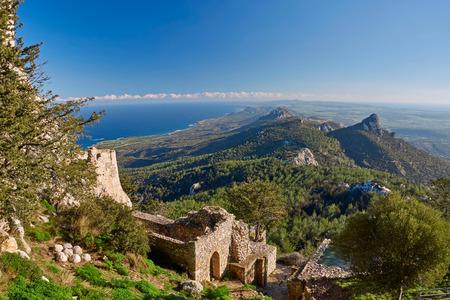 北キプロス山豆城からの眺め 写真素材