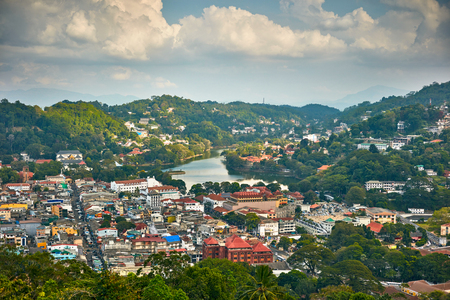 kandy: Kandy city,  Sri Lanka Stock Photo