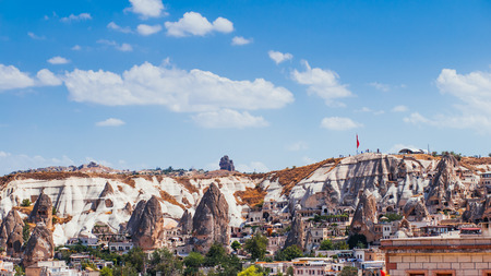 famous Goreme village in Cappadocia at day time in Turkey