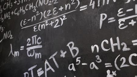化学および数学方程式壁部屋の背景内部