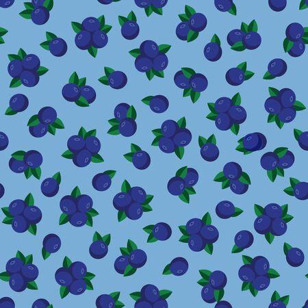 Blueberry seamless pattern Ilustracja