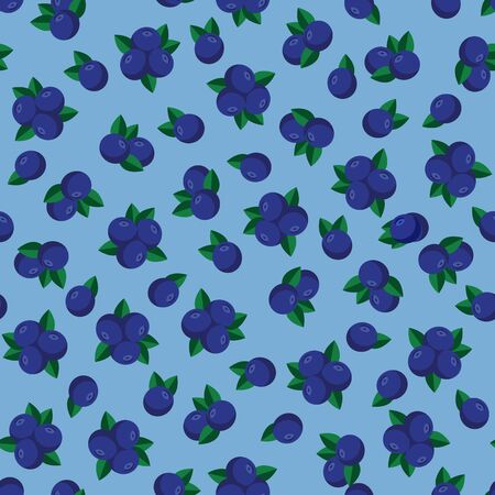 Blueberry seamless pattern Illustration