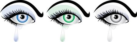 mujeres elegantes: illustartion detallada de las mujeres elegantes de llanto los ojos