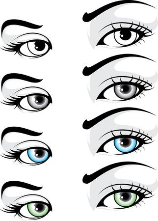 mujeres elegantes: illustartion detallada de la mujer elegante del ojo Vectores