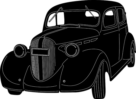 oldtimer: silhouette of an old car