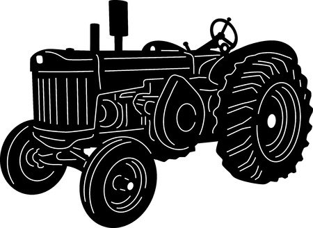 earth mover: illustration of great farms detailed silhouette
