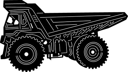 earth mover: illustration of great building Equipments detailed silhouette Illustration
