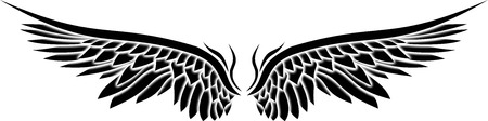 engel tattoo: Illustration der Flügel Illustration