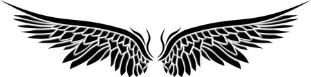 amerikalılar: kanatların illüstrasyon