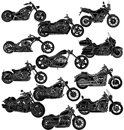 illustration of great Detailed Motorcycle  Vector