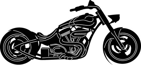 illustration of great Detailed Motorcycle  Illustration