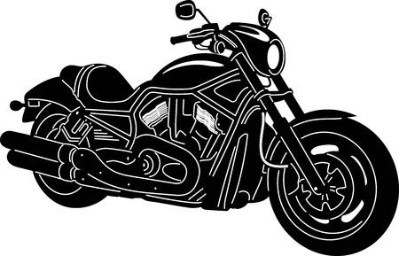 illustratie van de grote Gedetailleerde Motorcycle Vector Illustratie