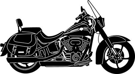 illustration of great Detailed Motorcycle Banco de Imagens - 24867792