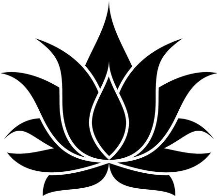 illustration of great lotus Banco de Imagens - 24867927