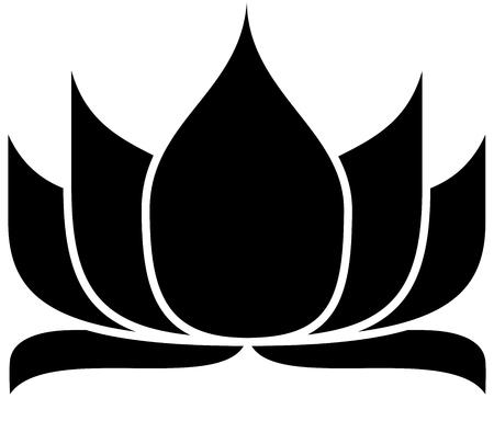 illustration of great lotus Banco de Imagens - 24867935